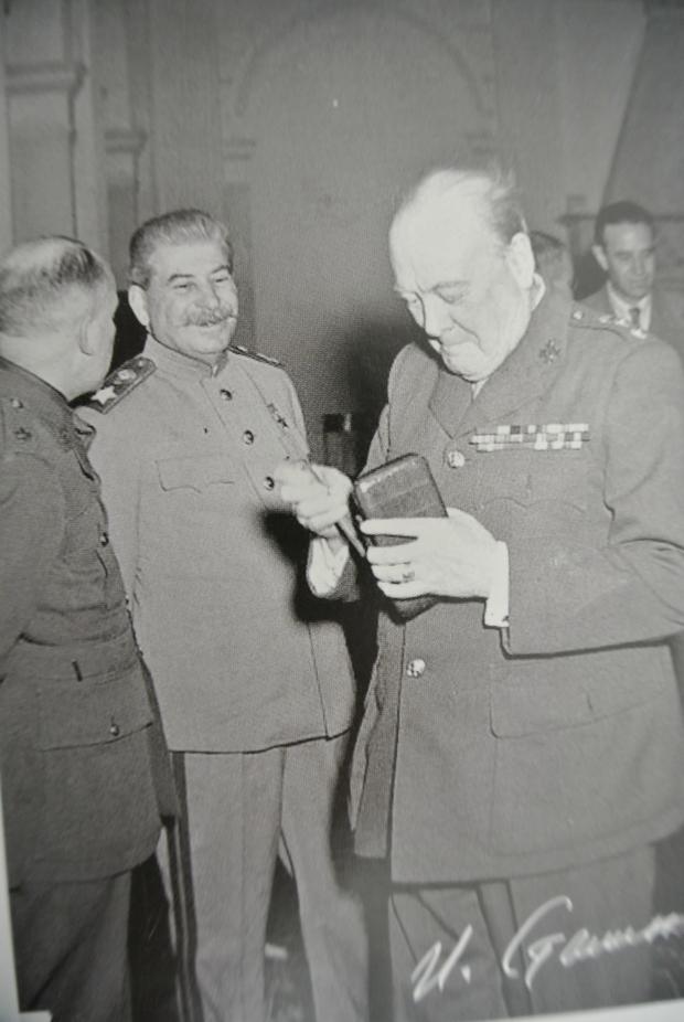 Stalin en Churchill in Jalta
